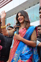 Puja Hegde looks stunning in Red saree at launch of Anutex shopping mall ~ Celebrities Galleries 123.JPG