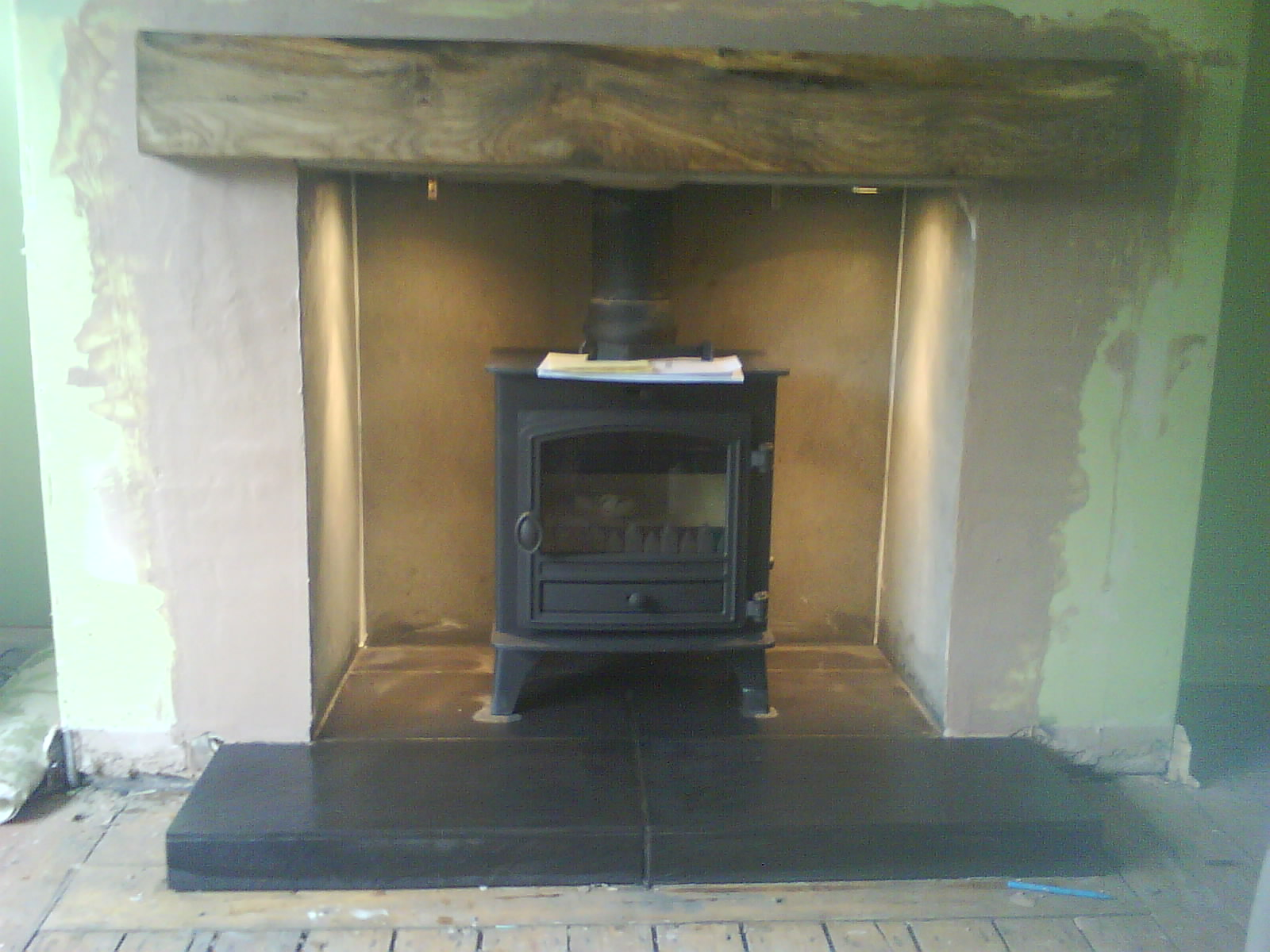The gallery for --> Black Slate Tile Fireplace