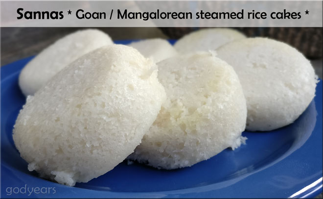 Sannas or steamed Rice Cakes