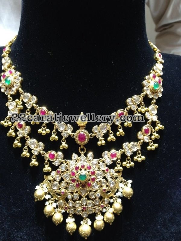 Two Layer Kundan Pachi Set