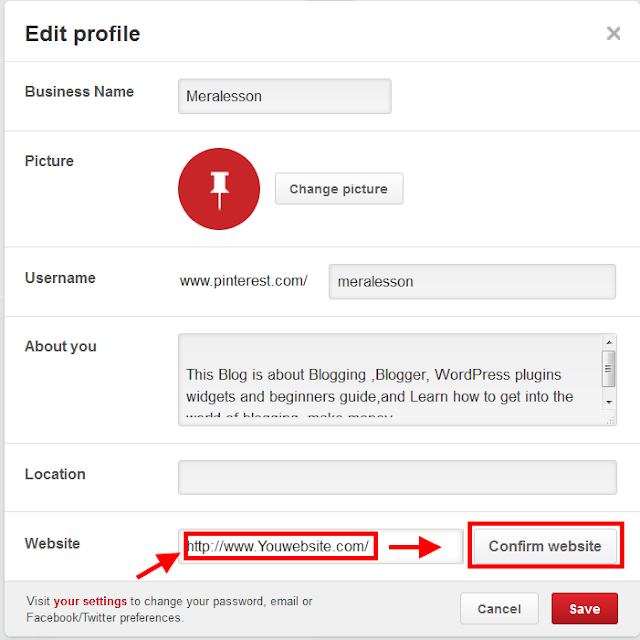 How to Get verified Blogger Blog on Pinterest