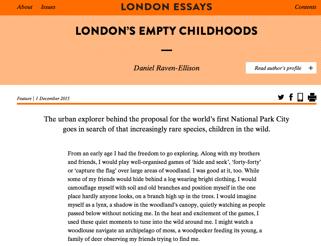 dan s london essay