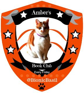 Amber's Book Club Badge 2019 @BionicBasil cats book club, book club for cats