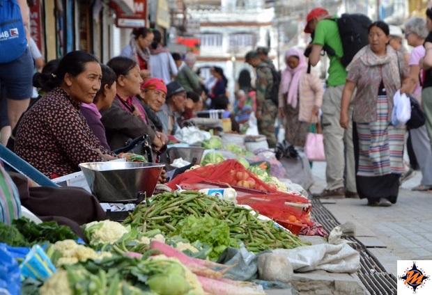 Leh, main market