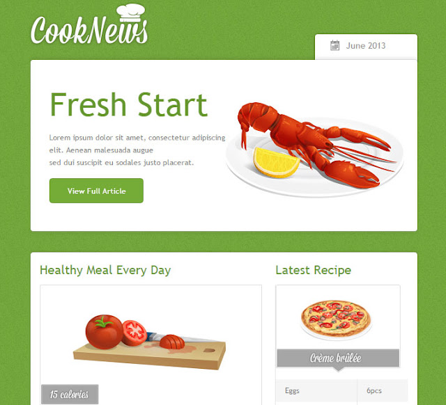Green Email Template