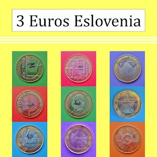 Moneda 3 Euros Eslovenia