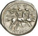 Quinario - 211 a.C. Crawford 44/6 reverso