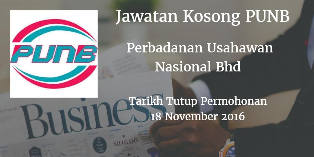 Jawatan Kosong PUNB 18 November 2016