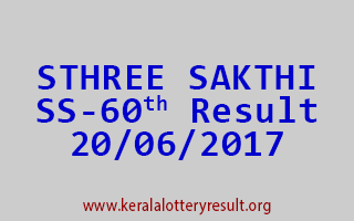 STHREE SAKTHI Lottery SS 60 Results 20-6-2017
