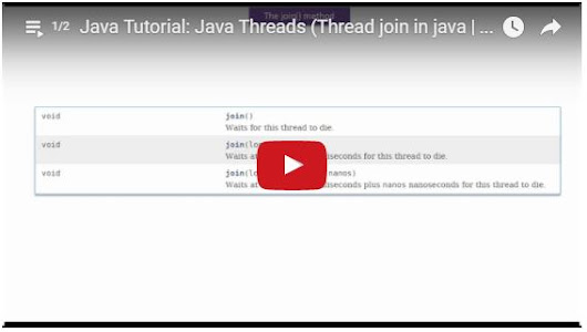 Java Tutorial: Java Threads (Thread join in java | Thread join) - Playlist