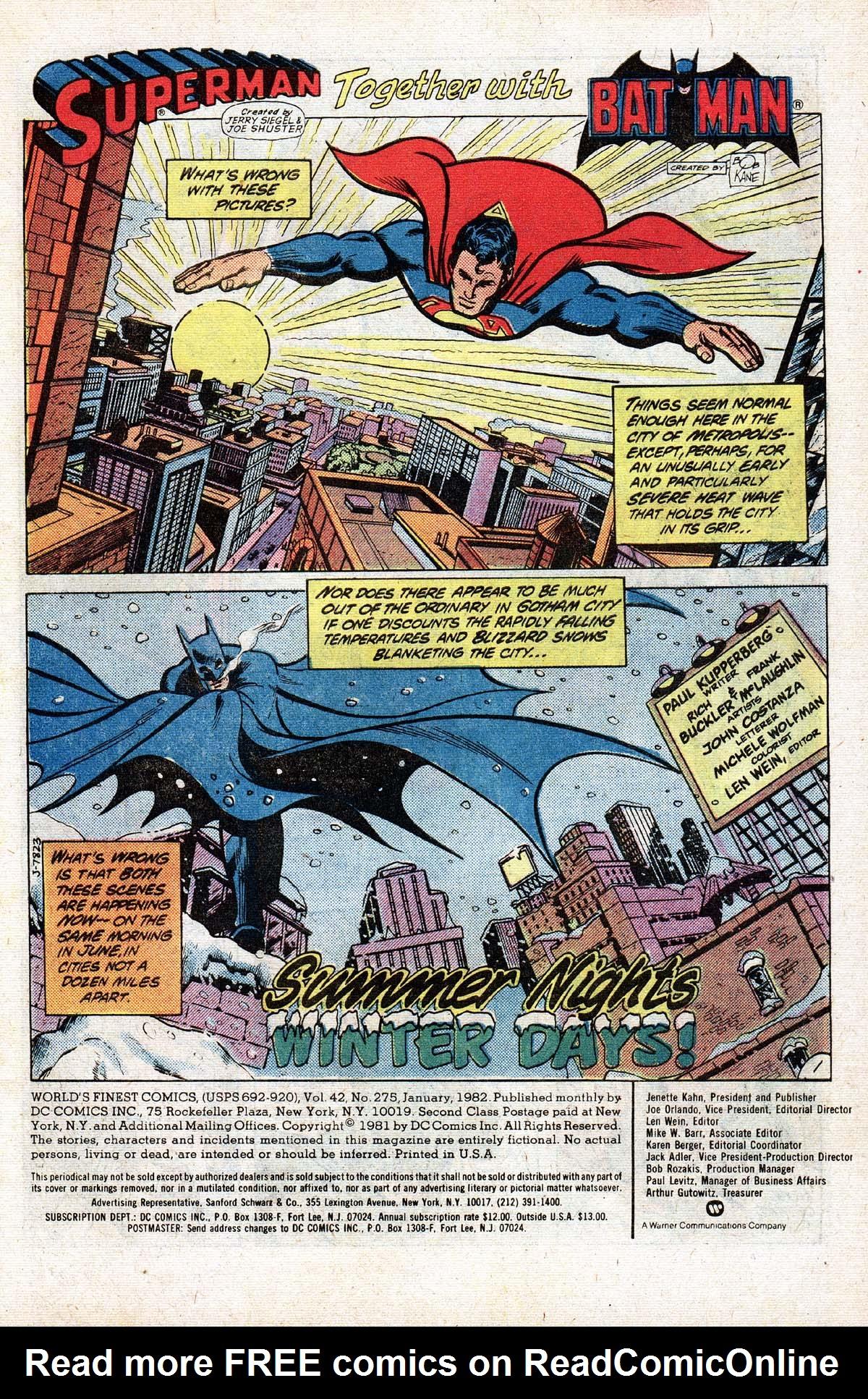 Read online World's Finest Comics comic -  Issue #275 - 3