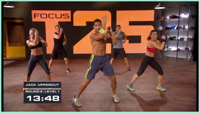 Focus T25 screen shot Beta level Speed 2.0. Sean T cardio workout. At home fitness DVD, aerobics and toning to get fit and work out.