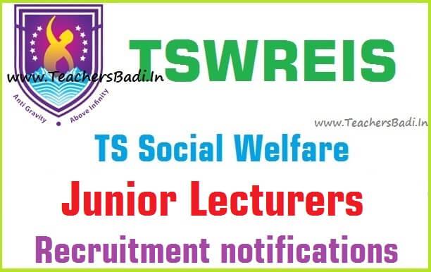 Tswreis,Junior Lecturers,Recruitment,application form