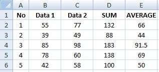 formula hitung sederhana