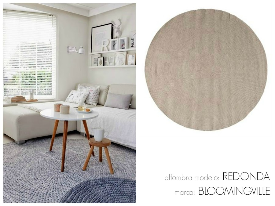 Una alfombra en blanco y negro y dos precios decoraci n for Alfombras redondas ikea