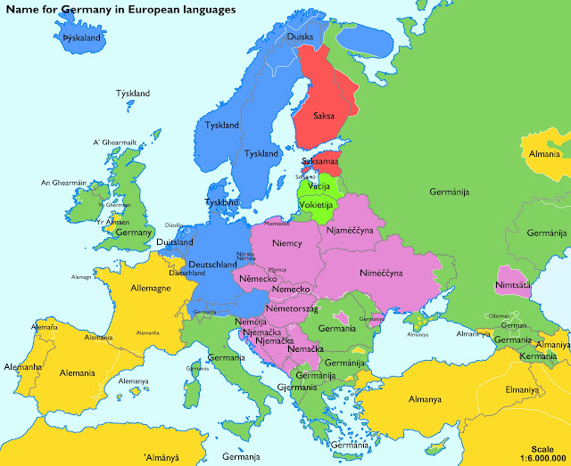 names for germany in european languages
