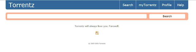 torrentz shuts down