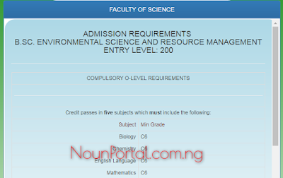 NOUN Admission Requirements - B.Sc. Environmental Science and Resource Management-www.nouonline.net-2017-12-03-16-21-09-263.png