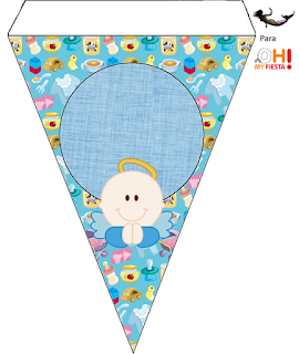 Angel Boy Free Printable Bunting.