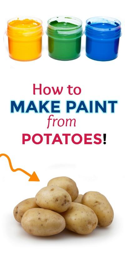 MAKE PAINT FROM POTATOES! (taste-safe recipe) #paintrecipe #paintrecipeforkids #paintrecipeshomemade #howtomakepaint #fingerpaintingideasforkids #ediblepaintforbabies #potatopaint #artsandcraftsforkids