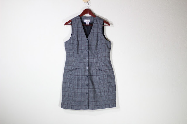 Plaid Vest Dress