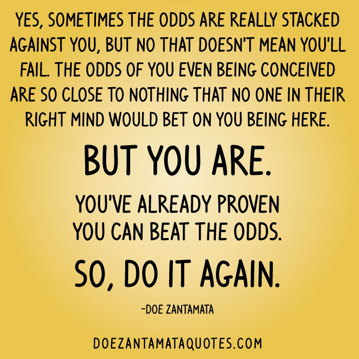 The Bet Short Story Quotes: Beat The Odds