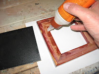 Apply a bead of glue along the inside edge of the lid insert