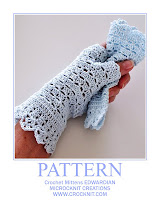 how to crochet, mittens, fingerless, edwardian, vintage, gloves,