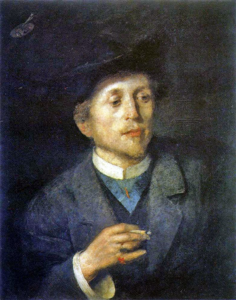 Anton Ažbe, Self Portrait, Portraits of Painters, Fine arts