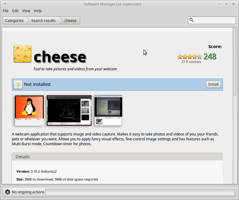 Cheese Aplikasi Webcam di Linux Mint/Ubuntu