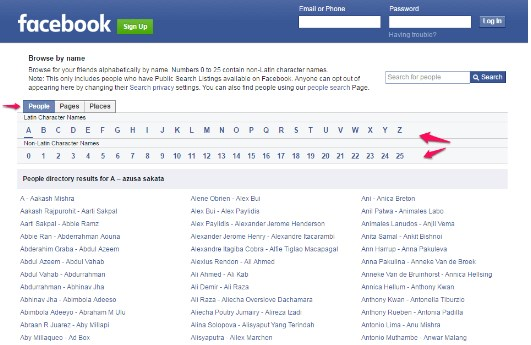 how to view someones facebook profile without logging in