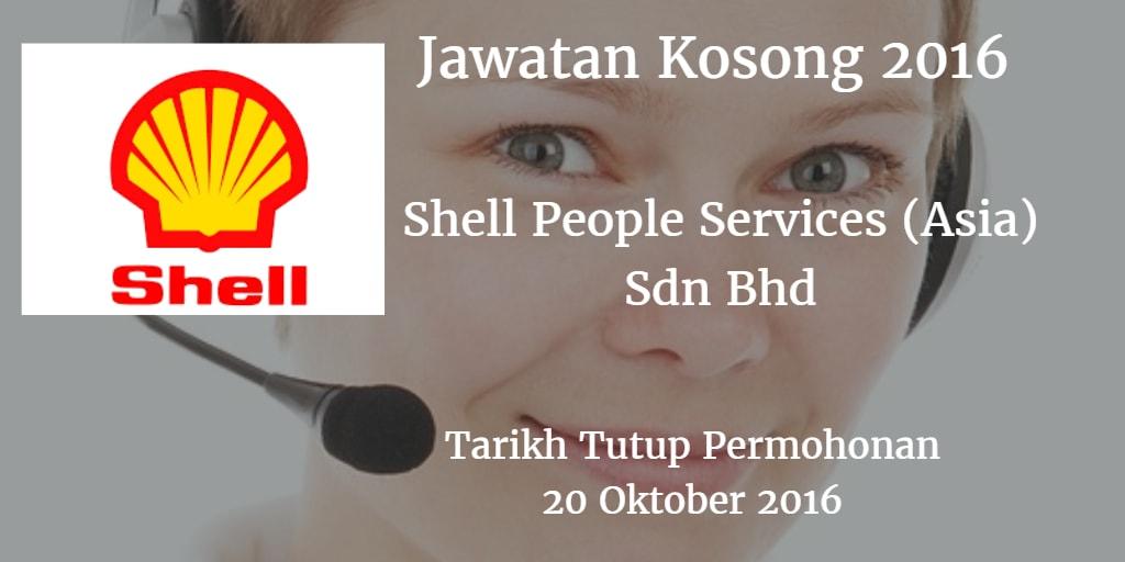 Jawatan Kosong Shell People Services (Asia) Sdn Bhd 20 Oktober 2016