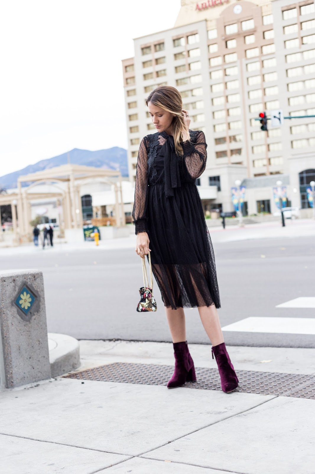 Black Dress For Halloween by Colorado fashion blogger Eat Pray Wear Love