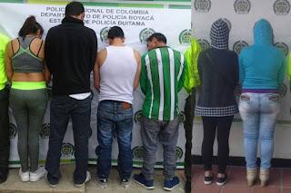 Desarticulan dos bandas delincuenciales en Duitama