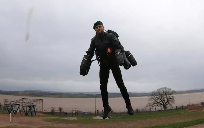 Man Creates Machine That Lets People Fly In The Air Just Like Ironman Suit (photo)