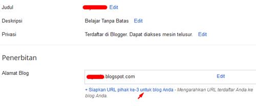 Cara Menambahkan Subdomain di Blogger