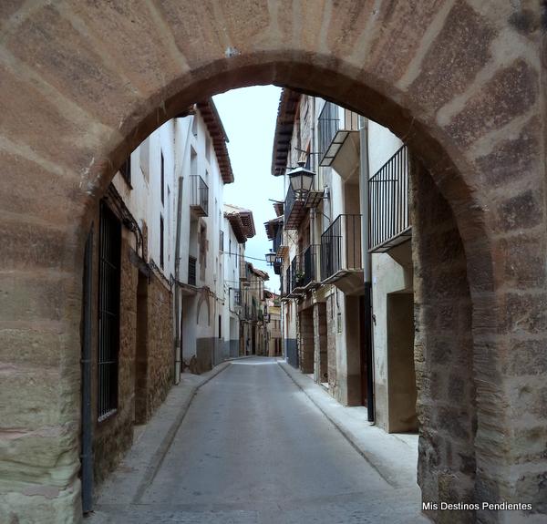 Calles de Mora de Rubielos (Teruel)