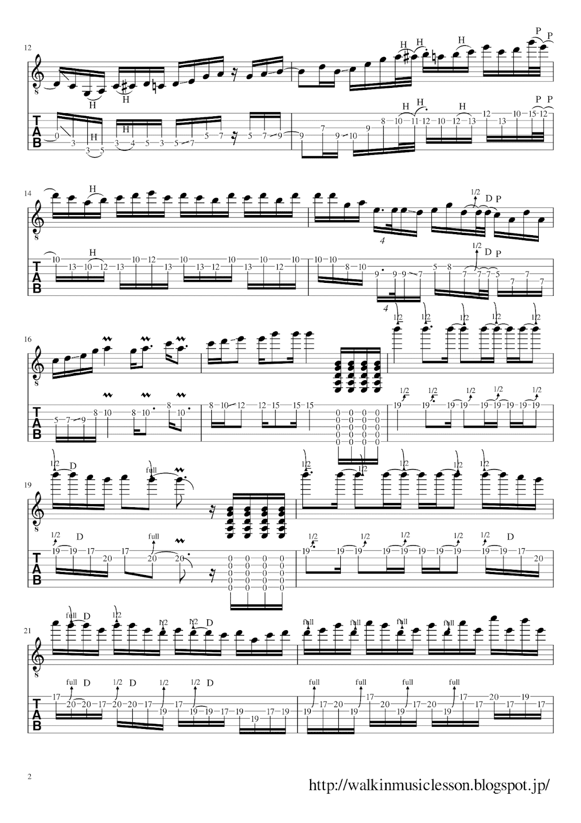 joe bonamassa  guitar solo tab Kickin it 70's Disco Style 2