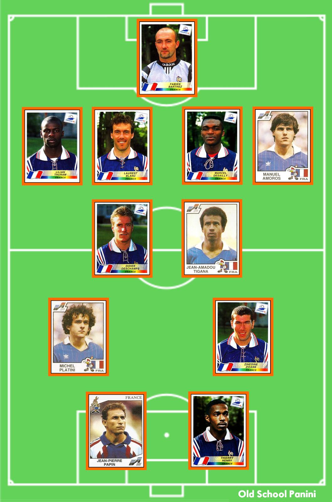 Joueur Equipe De France 1998 : joueur, equipe, france, School, Panini:, L'équipe, France, Temps