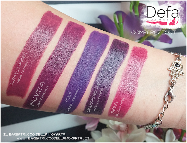 movida  comparazioni Defa cosmetics lipstick