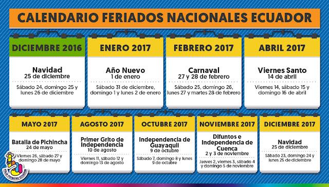 feriados ecuador 2017