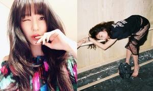 Sao Hàn 22/1: Tiffany khoe vẻ quyến rũ, Goo Hara gây tranh cãi vì ảnh táo bạo