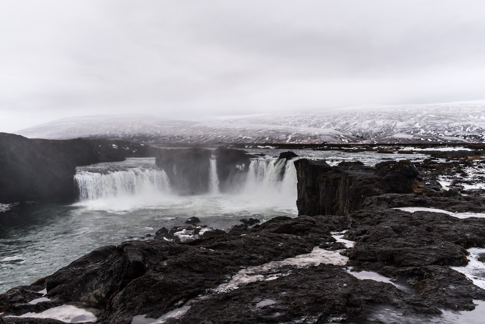 von vogue iceland travel Godafoss waterfalls