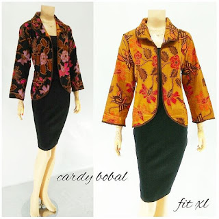 Model Blouse Cardigan Bolak Balik Batik