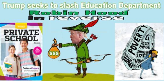 Image result for big education ape Trump's Budget