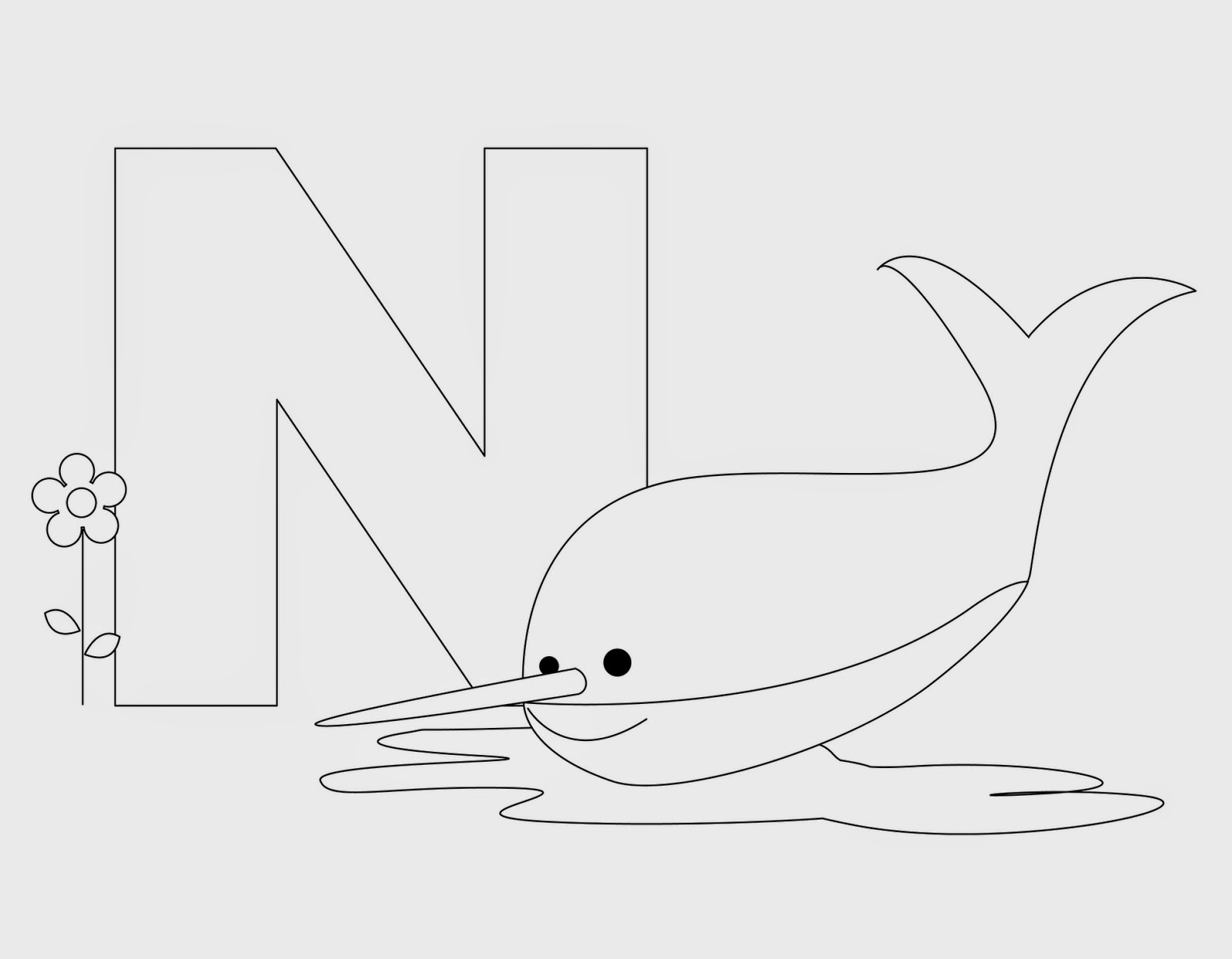 Kids Page N Is For Narwhal