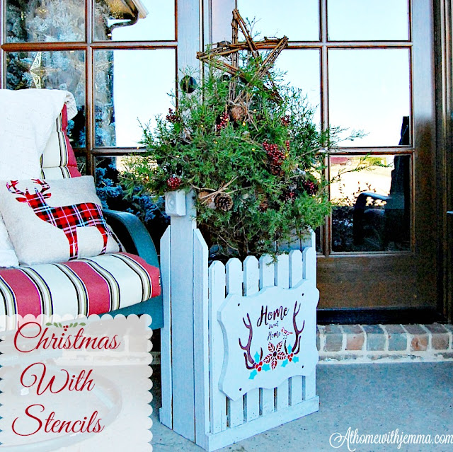 Christmas-stencils-porch-french-doors-decorating-cedar-tree-athomewithjemma
