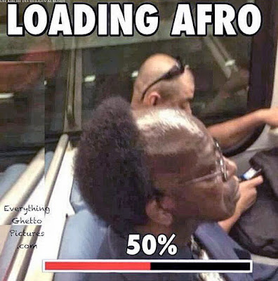 Lustige Bilder Friseur - Halber Afro - Witzige schwarze Menschen