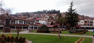 Plaza Mayor de Ohrid.