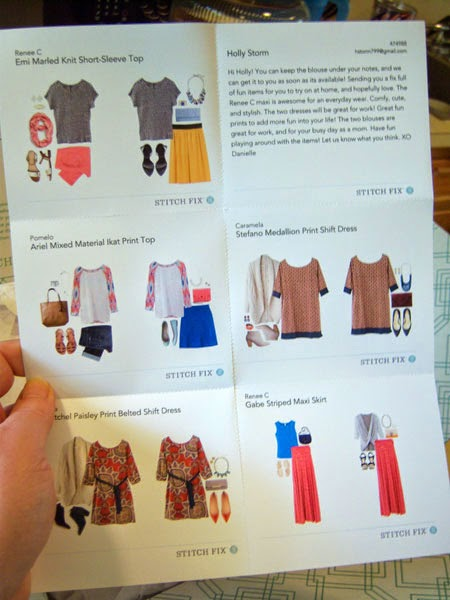 My Stitch Fix Box #4 style sheet
